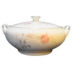 Camelot China American Rose Covered Vegetable Dish
