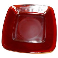 Royal Ruby Charm Luncheon Plate Anchor Hocking