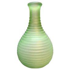 Hocking Depression Green Satin Frigidaire Carafe Bottle Glass