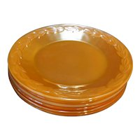 Laurel Peach Lustre Anchor Hocking Fire King Dinner Plates Set of 6