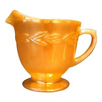 Laurel Peach Lustre Anchor Hocking Fire King Creamer