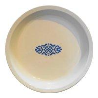 Corning Blue Shell Oil Medallion Pie Plate