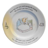 Peter Rabbit Beatrix Potter Bread and Butter Plate Wedgwood