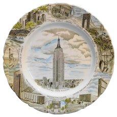 Empire State Building Souvenir Plate Vintage Johnson Brothers England
