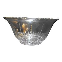"New Martinsville Radiance 12"" Clear Punch Bowl Depression Glass"