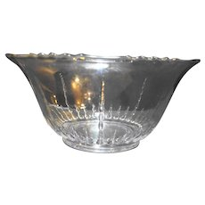 """New Martinsville Radiance 12"""" Clear Punch Bowl Depression Glass"""