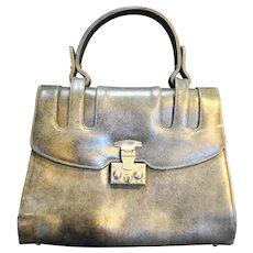 Prestige Grey Marbled Leather  Structured Purse Handbag