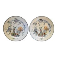 Thomas Elsmore & Son Parisian Granite Aesthetic Movement Transferware Dinner Plates 1878