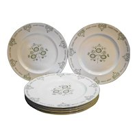 Franciscan Heritage Green Dinner Plates Set of 6