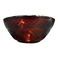 Cristal d'Arques JG Durand Antique Ruby Red Bowl Salad