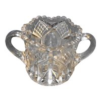 EAPG Diamond Zipper Sugar Bowl