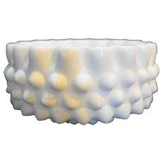 Fenton Hobnail Milk Glass Candy Box Base Only