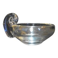 Toscany Crystal Kristen Scroll Handle Nappy Bowl