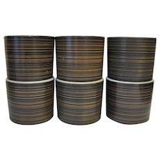 Pyrex Terra Mugs TUmblers Set of 6