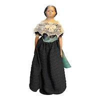 Papier Mache Wood Milliner's Model Doll 13 IN