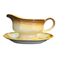 Mikasa Whole Wheat Gravy Boat With Underplate