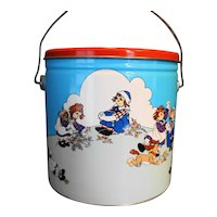 Raggedy Ann and Andy Pail Bucket 1988