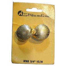 Streamline Belt Buckle Shell Shape NOS