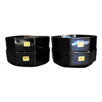 Arcoroc Octime Black Cereal Bowls Set of 4
