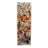 Fall Autumns Colors Oblong Floral Silk Scarf
