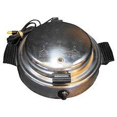 Dominion 1316.2 Round Waffle Iron Chrome Vintage