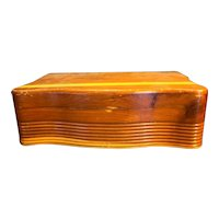 Cedar Chest Curved Scalloped Sides Dresser Top Jewelry Box