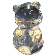 Fenton Clear Art Glass Bear Figurine 3 1/2 IN