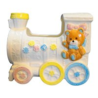 Nancy Pew Giftwares Train Nursery Baby Planter
