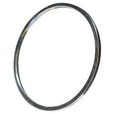 Trifari Silver Tone Narrow Thin Bangle Bracelet