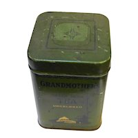Grandmother's Green Japan Tea Tin