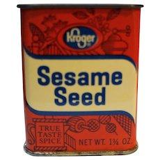 Kroger Sesame Seed Vintage Tin