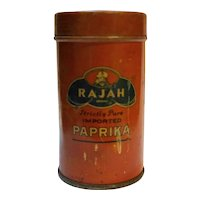 Rajah Strictly Pure Imported Paprika Red Tin Vintage