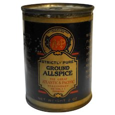 A&P Strictly Pure Ground Allspice Tin