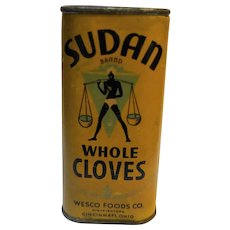 Sudan Brand Wesco Foods Whole Cloves Tin