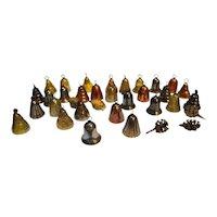 Mini Bell Colored Plastic Christmas Ornaments Set 29