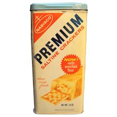 Premium Saltine Crackers Tin Canister 1969 Nabisco