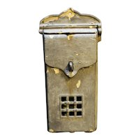 Wall Mount Mailbox Metal Lockable Pierced Front