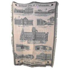 School City of Mishawaka Woven Jacquard Throw Blanket