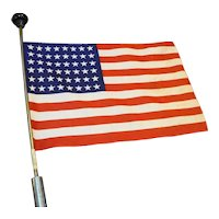 48 Star States US Flag Printed Cotton Cloth Parade Cane 16 x 11 IN
