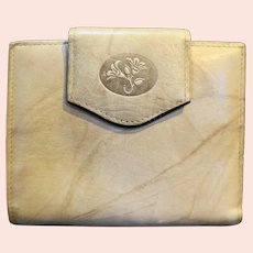 Buxton Taupe Leather Ladies' Wallet Billfold Coin Purse