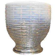 Northwood Opalescent Basketweave Sugar Bowl No Lid