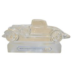 Goebel Crystal Rolls Royce Phantom II 1931 Paperweight