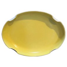 Fire King Vitrock Yellow Oval Tray Bowl