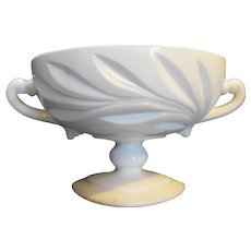 Indiana Willow Milk Glass Candy Dish Compote