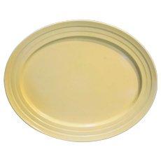 Hazel Atlas Moderntone Platonite Yellow Oval Platter 12 IN