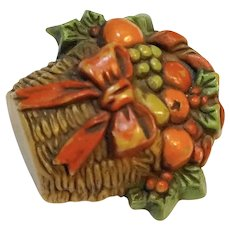 Hallmark Fruit Basket Plastic Pin