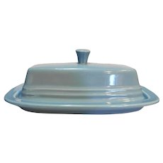 Homer Laughlin Fiesta Fiestaware Periwinkle Blue Covered Butter Dish