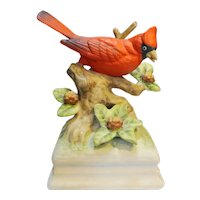 Gorham Porcelain Cardinal Music Box Japan Oh What A Beautiful Morning