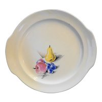 Edwin Knowles Fruits Utility Ware Cake Plate 1940s