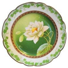 Wheelock MZ Austria Hand Painted Magnolia Cabinet Plate